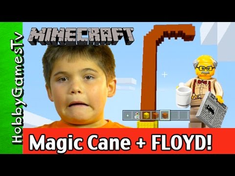 Minecraft Build, Lego Floyd Makes His Cane! by HobbyGamesTV