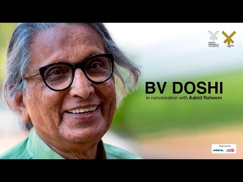 BV Doshi in conversation with Aabid raheem