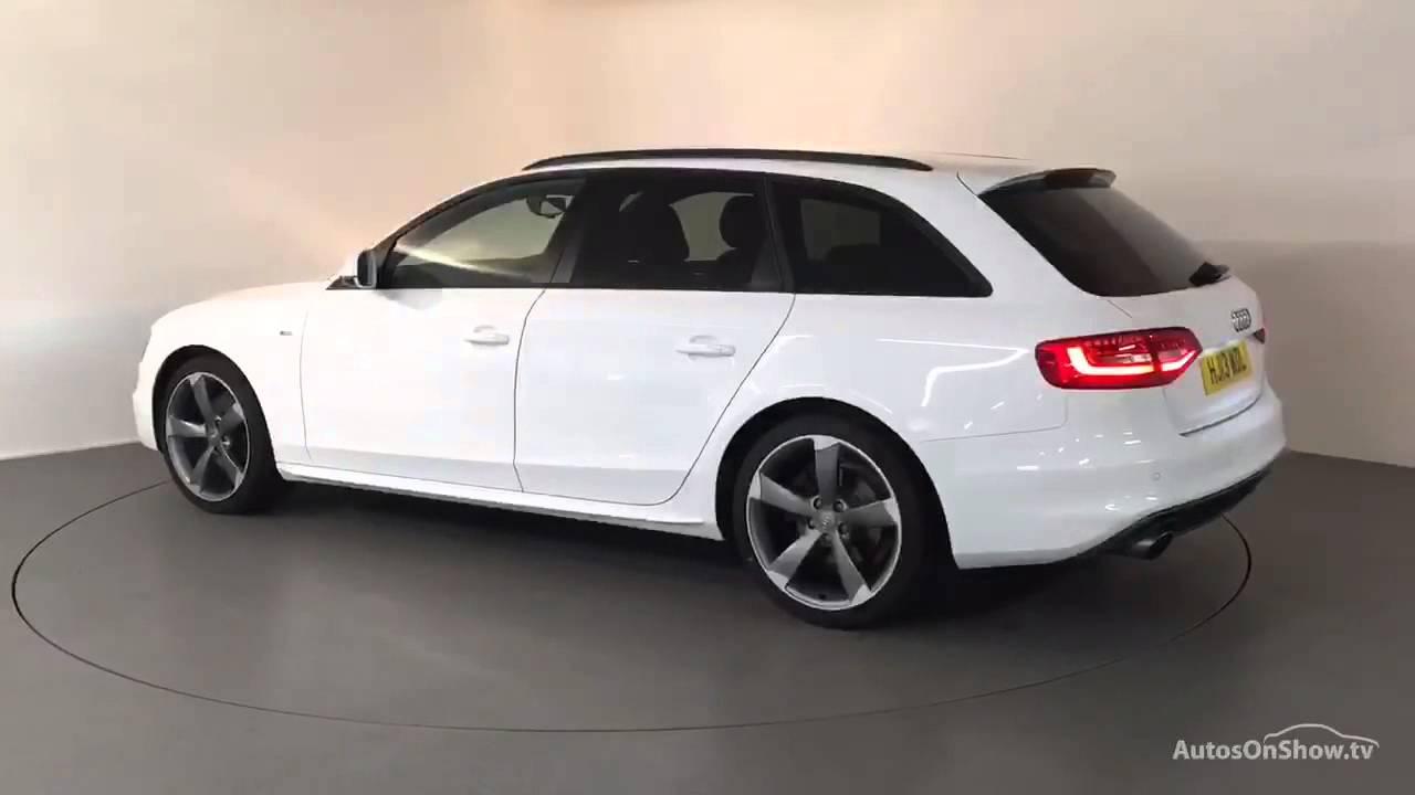 Hj13wdl Audi A4 Avant Tfsi S Line Black Edition White 2013