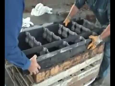 Clc mold cellular light weight concrete foam bricks blocks for Concrete foam block