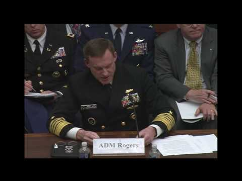 Cybercom Commander Testifies Before House Armed Services Subcommittee