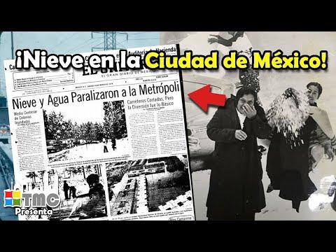 LA GRAN NEVADA QUE CUBRIÓ A LA CIUDAD DE MÉXICO | 11 DE ENERO DE 1967