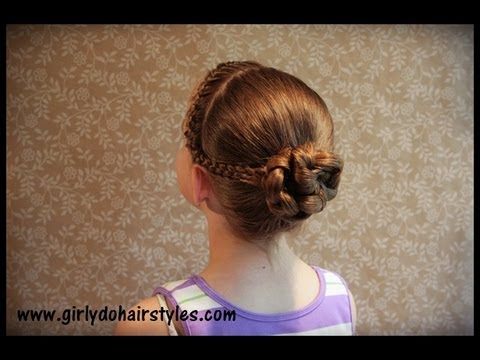 Dancer Hairstyle Braids And Bun Youtube