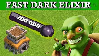 TH8 BEST AND FASTEST DARK ELIXIR FARMING STRATEGY - Clash of Clans 2018