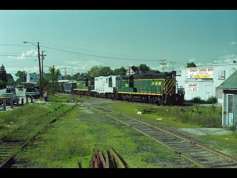 NHN GP9 turns on the wye in Rochester,NH 09/09/1992