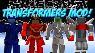 Трансформеры в Minecraft!Обзор мода Minecraft #72