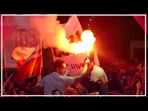 أحمد الأحمر يحتفل مع جمهور الزمالك بالشماريخ..أبطال أفريقيا أهم  - 07:53-2019 / 10 / 16