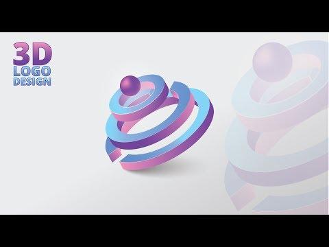 Illustrator CC Tutorial   Graphic Design   3D LOGO DESIGN thumbnail