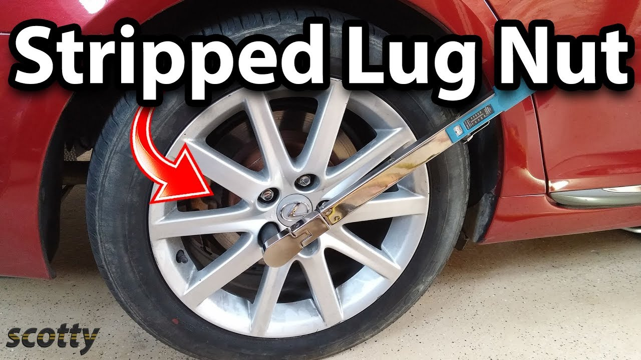 how to remove stripped lug nut stud on your car [ 1280 x 720 Pixel ]