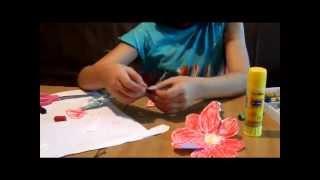 Как сделать из бумаги цветок? Детский канал.
