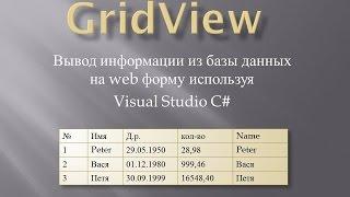 урок 1 ASP .NET GridView. Простой вывод данных
