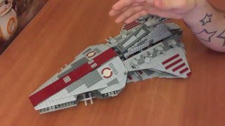 Ретро-обзор LEGO Star Wars 8039 Republic Attack Cruiser Venator-Class