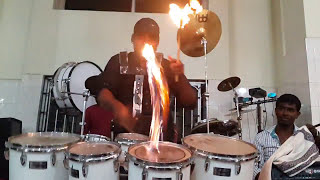 Emil fire drums solo like sivamani
