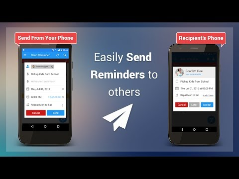 How to send or share reminder using To Do Reminder app?
