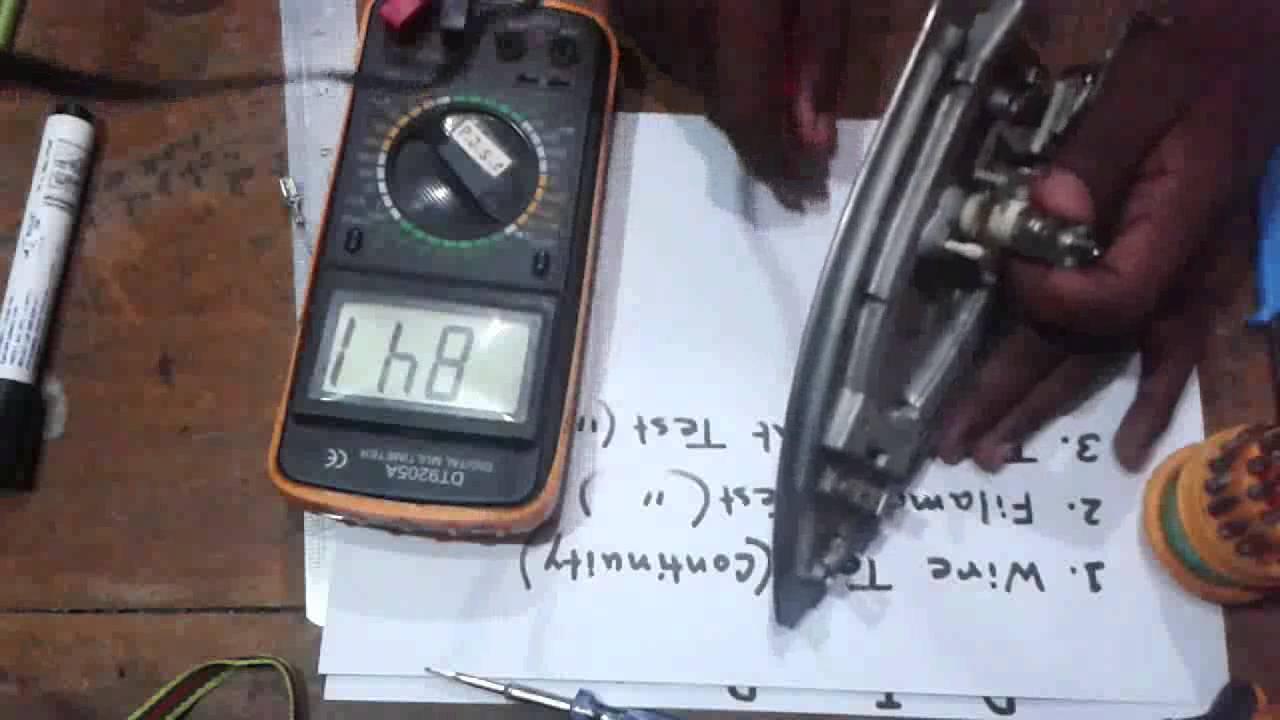 Dry Iron Repairing Youtube Philips Hd 1172
