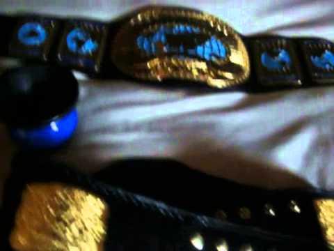 My J-Mar WWF Intercontinental Belt and releathered WCW US Championship