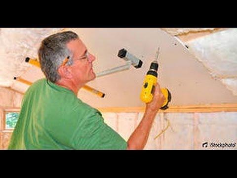 видео: Гипсокартонный потолок монтаж своими руками. Обучение.