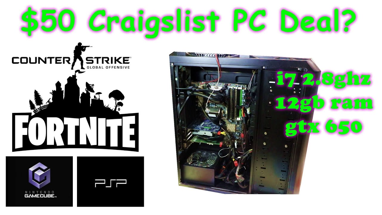 $50 Craigslist Gaming PC Deal or Scam? - YouTube