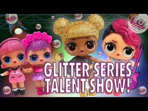 lol-surprise-dolls-glitter-series-got-talent!-starring-queen-bee,-sugar-queen,-and-madame-queen!