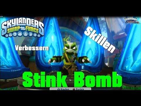 Stink Bomb Skillen auf Die Kunst des Stink-Fu & Stinkewolken Streuer Skylanders Swap Force Skill