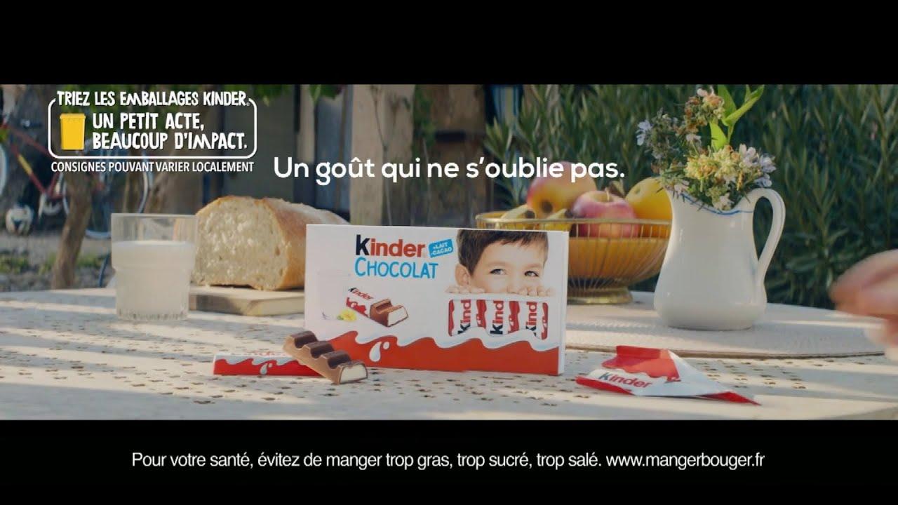 """Musique de la pub Kinder chocolat Ferrero """"un goût qui ne s'oublie pas""""  Juillet 2021"""