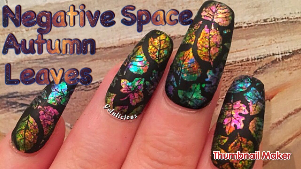Negative space autumn leaves nail art design youtube negative space autumn leaves nail art design prinsesfo Image collections