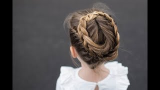 Halo Braid | Easy Homecoming Updo | Cute Girls Hairstyles