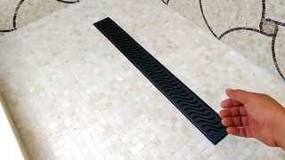 How to install a shower trench drain