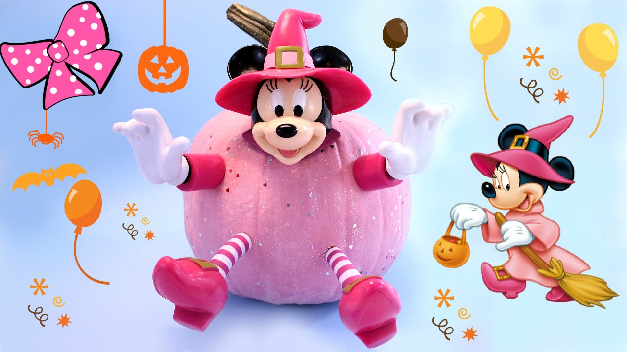 Decora una calabaza de halloween minnie mouse kit de - Calabazas decoradas para ninos ...