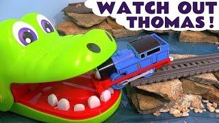 Thomas and Friends Toy Trains & Crocodile Surprise Eggs - Kinder Marvel Superheroes Spongebob TT4U