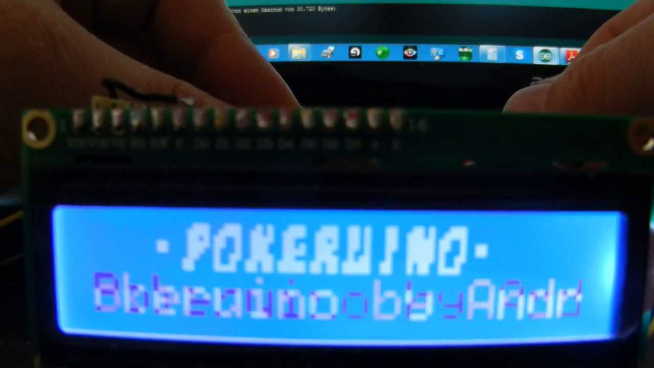 Arduino lcd game poker trucklane clone mood light all