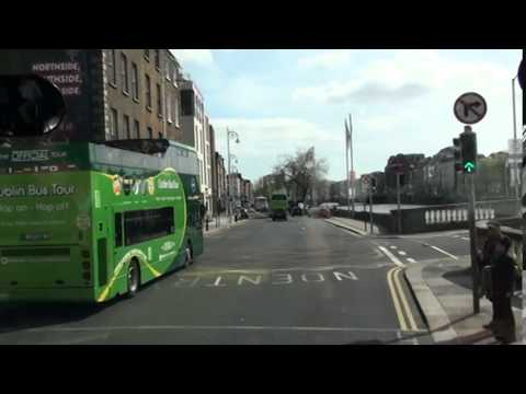 Riding around downtown Dublin