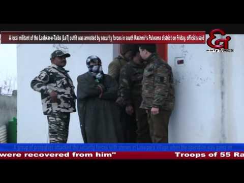 LeT militant arrested in south Kashmir's Pulwama, hand grenades seized*