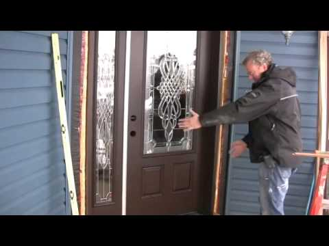 Installing a new entry door youtube for Entry door installation