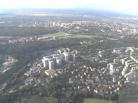 přistání v Praze Ruzyně