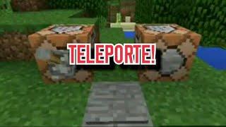 Minecraft: COMO FAZER TELEPORTE COM Alavanca/Botão e Placa de Pressão