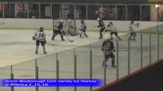 Acton Boxborough Girls Ice Hockey @ Billerica 2/10/16