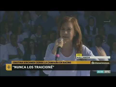 El acto de cierre de Cristina Kirchner en el estadio de Racing - Café de la Tarde
