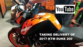 2017 KTM Duke 200 Orange | Taking Delivery | Lucknow, India