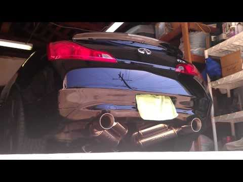 Repeat G37S coupe Tomei Expreme Ti Testpipes / Motordyne Exhaust