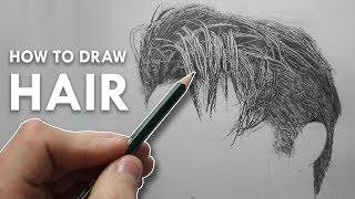 How To Draw HAIR in Pencil - Narrated TUTORIAL - Example 1