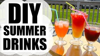 ♡ Diy Summer Drinks | Healthy & Delicious!!  ♡