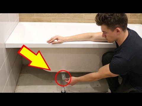 Как укрепить ванну чтобы не шаталась видео