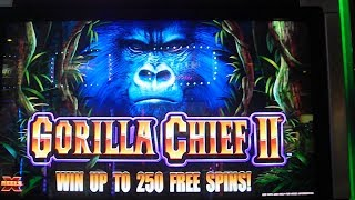 Gorilla Chief II MAX BET BIG WIN Slot Machine Bonus 40 Free Games