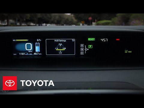 Toyota How-To: Prius Head-Up Display | Toyota