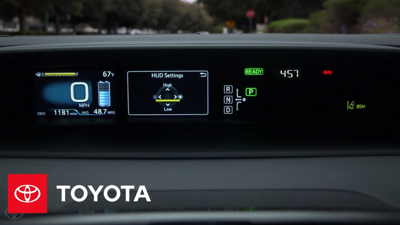toyota how to prius head up display toyota youtube. Black Bedroom Furniture Sets. Home Design Ideas