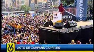 Capriles afirma que el 14 de abril defenderán cada voto del pueblo venezolano