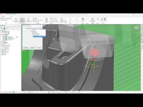 Dynamic Machine Control in Region - PowerMill 2018