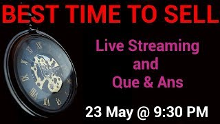 🔴🔴 BEST Time To Sell A Stock For Maximum Profit  - YouTube LIVE Streaming And Q&A