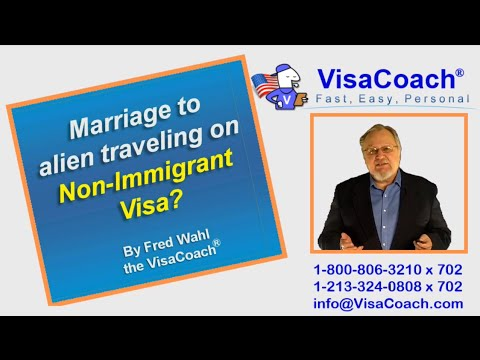 Visiting USA for Marriage on non-immigrant visa Faq GC # 9